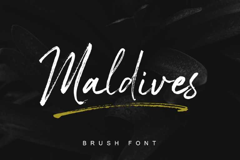 Preview image of Maldives Handbrush Font