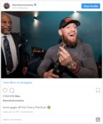 Connor Mcgregor instagram smoking