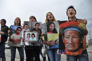 chevron protesters