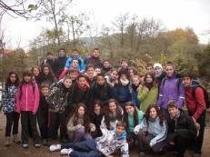 Excursión 2º noviembre Calasanz: salida del grupo de 2º ESO del colegio Calasanz