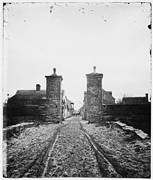 City Gate, St. Augustine ca. 1861–1865 View looking into town, St. George Street