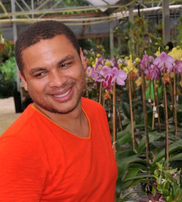 Bernard Lavaud, co-owner of B&G Orchids