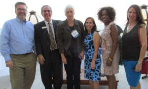 Photo 2 (L to R): ArtServe Board of Directors – Fundraising Chair Michael Cotter; Vice Chair Michael O'Rourke; Financial Advisor Leann Barber; President and CEO Jaye Abbate; Linda Houston Jones, Founder and Director of Ashanti Cultural Arts; Facilities Committee Chair and artist Virginia Fifield