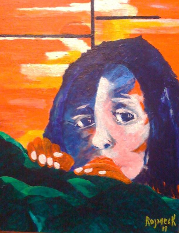 girl-hiding-from-the-world-acrylic-on-canvas-14-x-17-2011-500