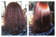 Keratin and Hair Color Red Auburn