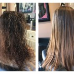 keratin treatment and color correction