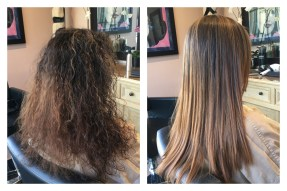 keratin treatment and color correction