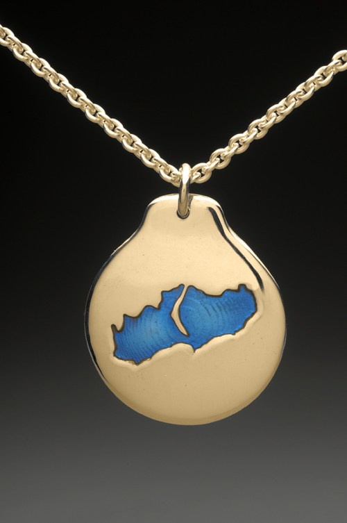 little lake sunapee pendant gold