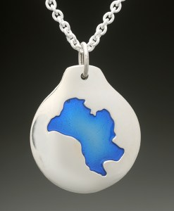 mirror lake pendant silver
