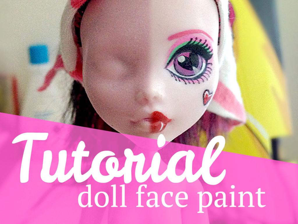 Tutorial Doll Face Paint  MJ Hsu Art