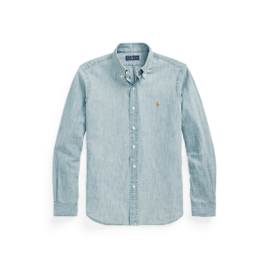 Long Sleeve Chambray Sport Shirt – Classic Fit