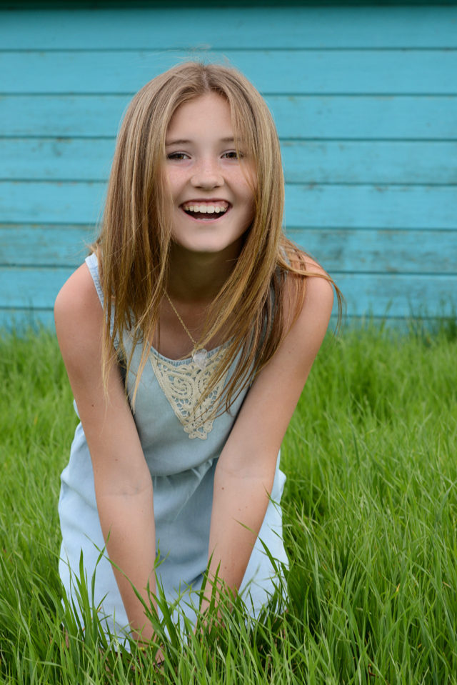 laughing young girl