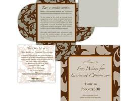 Invitations | Inspired Minds | Finance 500 Wine Tasting