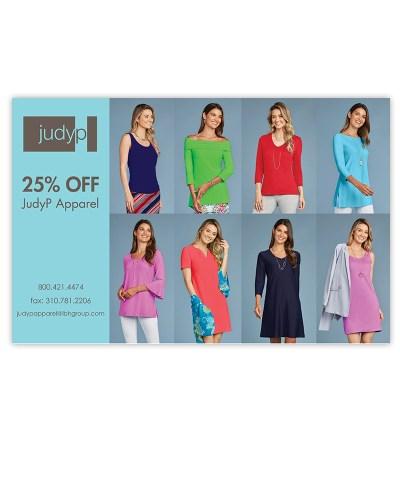 Postcard | JudyP Apparel Fashion MJ OBrien Design