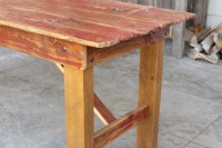 """Old Red"" Barn Door Dining Table - M. Jones Creations"