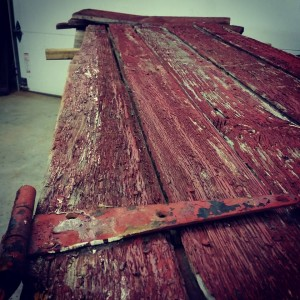 Red Door Dining Table