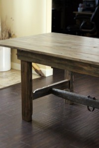 Grey Barn Door Table