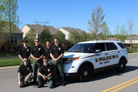 Group of Police Explorers
