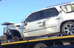 Crashed Cadillac Driven by Johnson