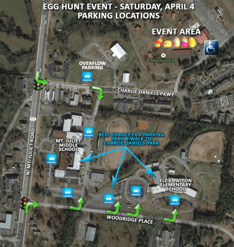 Egg Hunt Event Parking Locations