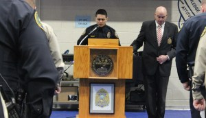 Officer Watkins, class Chaplain, Gave the Invocation at Graduation