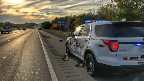 Damaged Patrol Vehicle