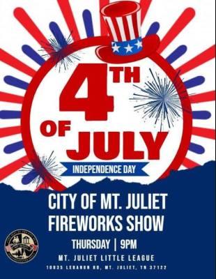 Mt. Juliet Firework Banner