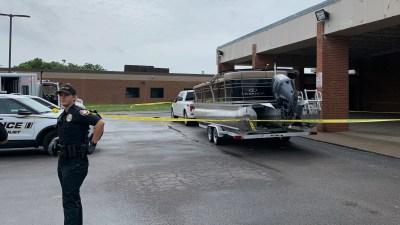 Investigative Scene of Truck and Boat Fall