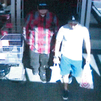 Two Suspects Walking Out of Store