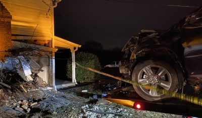 SUV Crashed into side of Home