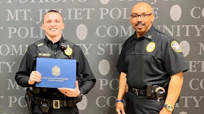 Photo of Officer Jordan Brown & Chief James Hambrick