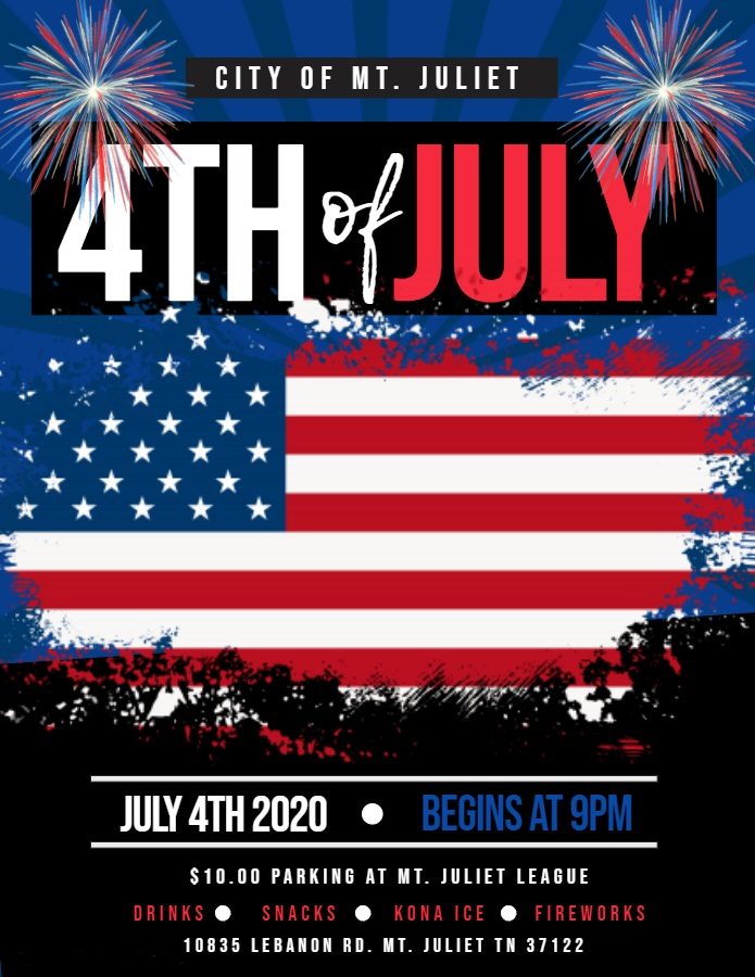 2020 Mt. Juliet Fireworks Flyer