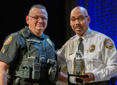 Photo of Cpl. Kimbrough and Chief Hambrick
