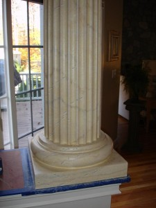 Faux Painted marble columns NY  MJP Studios