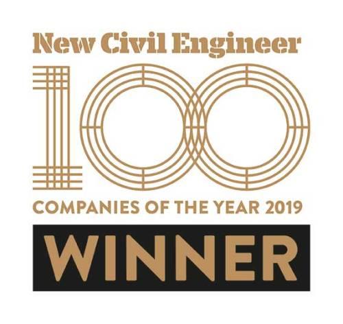 New Civil Engineer 100 Companies of the Year 2019 Winner