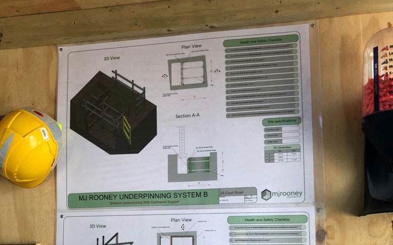 Underpinning Construction Safety Notice Board