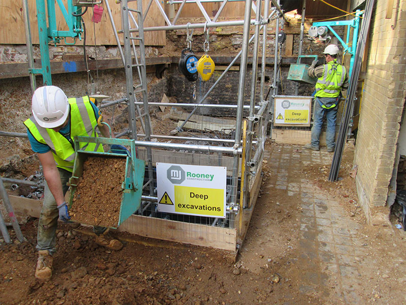 Civil Engineering Safety barrier on Underpinning Shafts