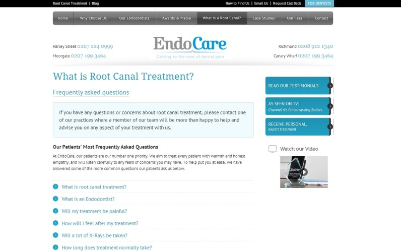 EndoCare website (2013)