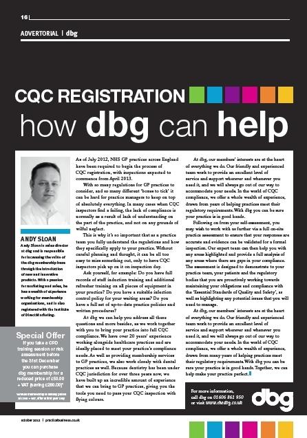 Practice Business, CQC registration