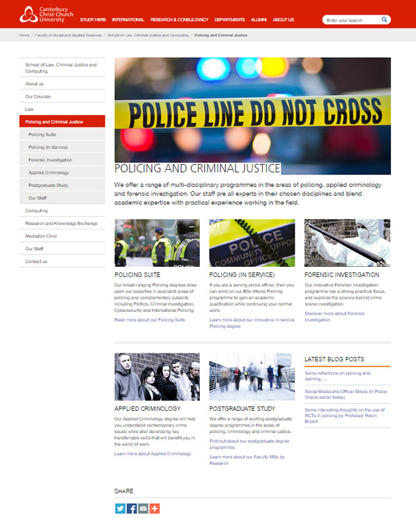 New Policing and Criminal Justice homepage