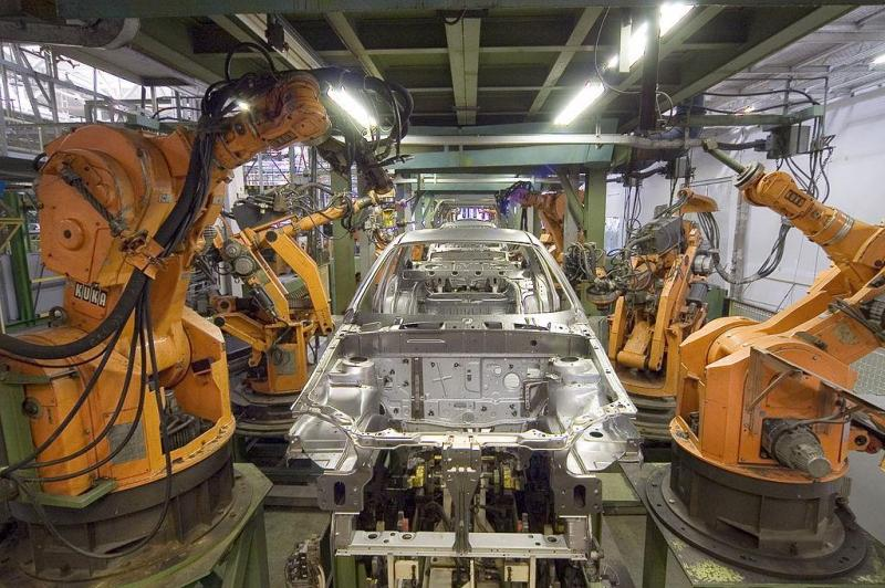 Industrial factory robots