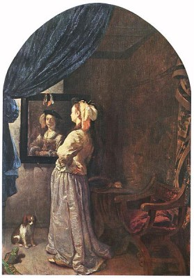 Frans Van Mieris (I) -Woman before the Mirror