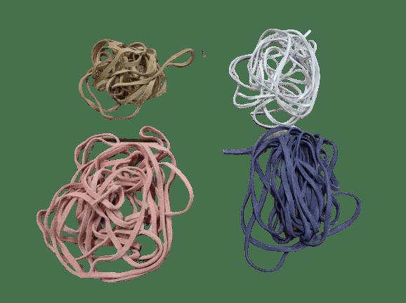 Veters voor de babyslofjes in diverse kleuren