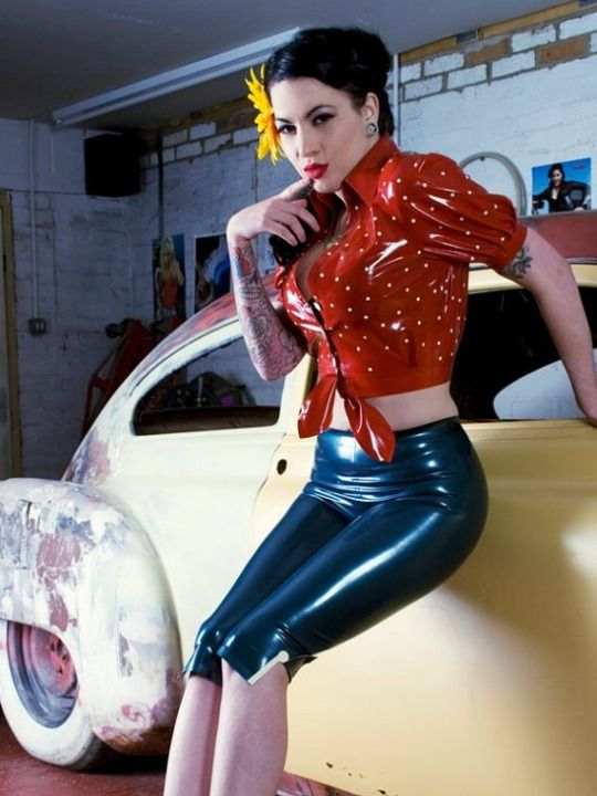 Image of Retro pinup latex outfit