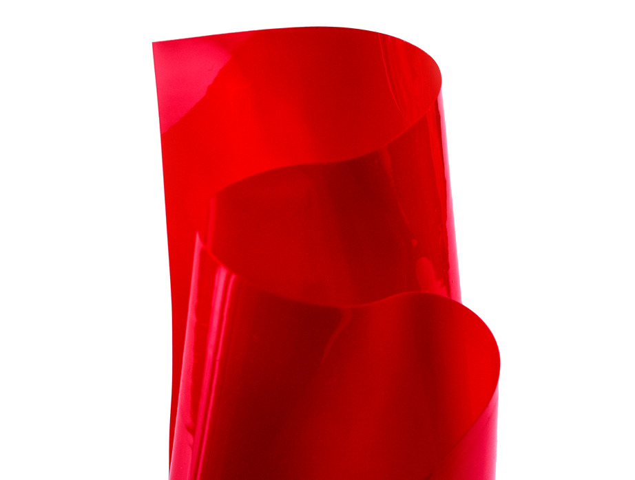 MJTrends Red transparent vinyl  PVC material