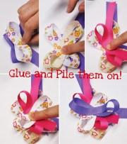 printed ribbon hair bow tutorial