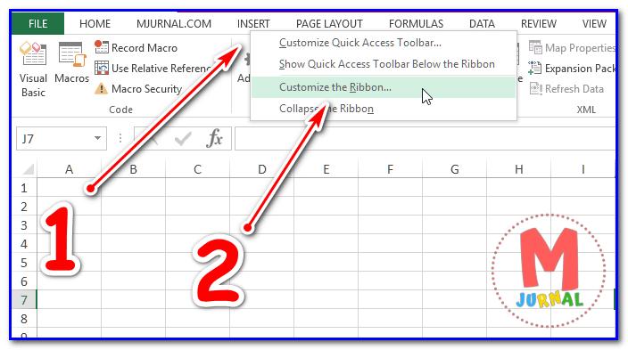 Macro VBA Excel - Cara Aktifkan Developer Tab pada Microsoft Excel