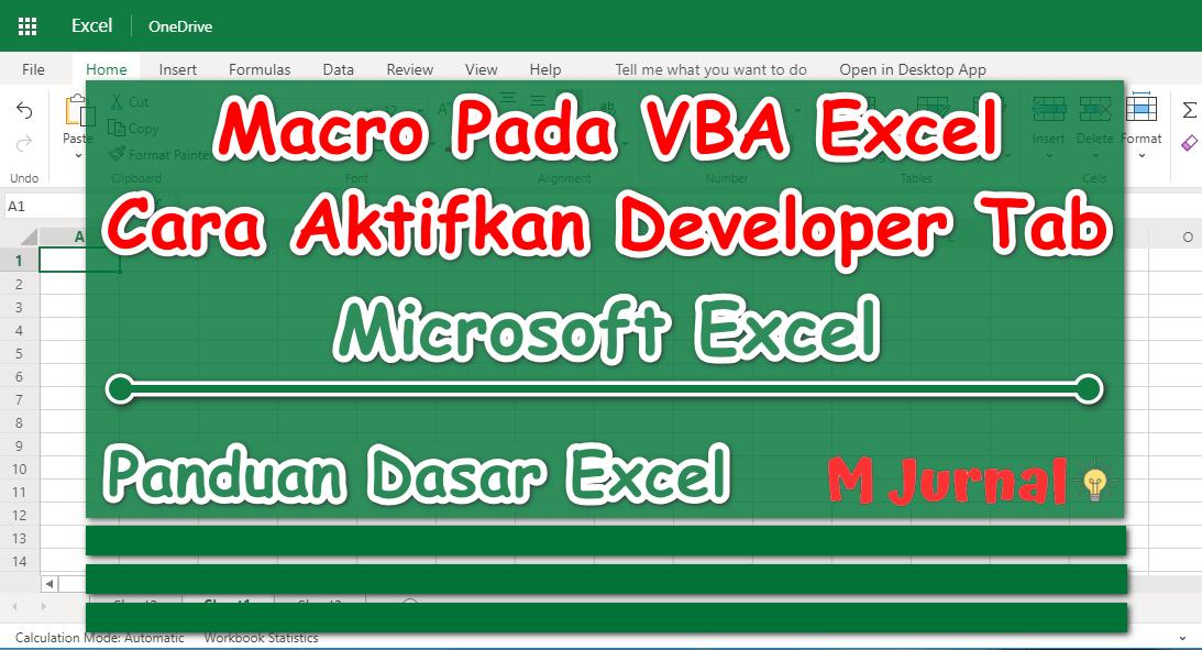 Macro VBA Excel, Cara Aktifkan Developer Tab