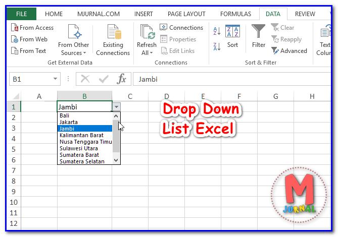 Cara membuat drop down list excel dengan mudah - Drop Down List Bertingkat ( Saling Terhubung )