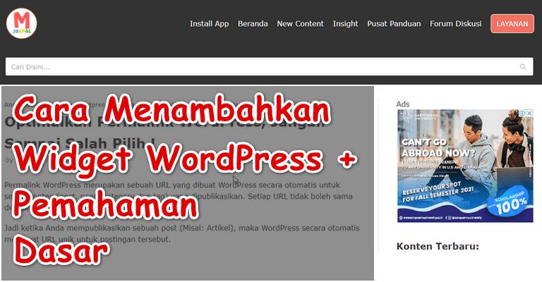 Cara Menambahkan Widget di WordPress